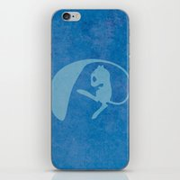 mew iPhone & iPod Skins featuring Shiny Mew by JHTY