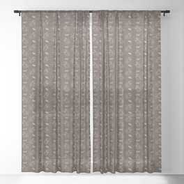 The Sloth (The Spiritual Meaning) Sheer Curtain