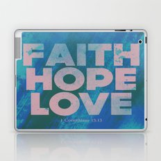 Faith,Hope,Love (Pink) Laptop & iPad Skin