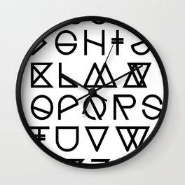 "Print ""Geometrical ABC"" Wall Clock"