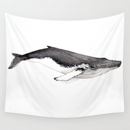 Humpback whale for whale lovers Wall Tapestry