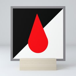 A Drop of Red Mini Art Print