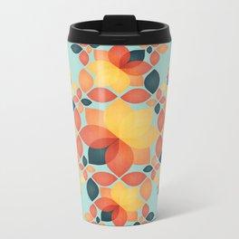 Orange Garden Pattern Metal Travel Mug