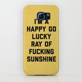 Ray Of Fucking Sunshine Funny Quote iPhone Case