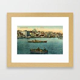 Vintage Golden Horn Constantinople ca 1900  Framed Art Print
