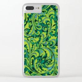 Verdant Victorian Vegetation Clear iPhone Case