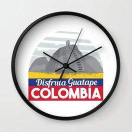 Disfruta Guatape Colombia Wall Clock