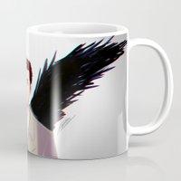 castiel Mugs featuring Castiel by Ferkashi