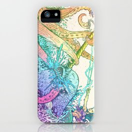 NARWHAL PWNS GIANT SQUID iPhone Case