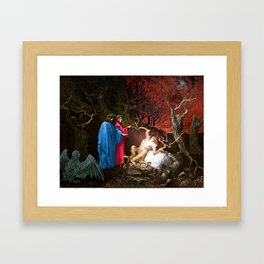 Dante and the self murderers Framed Art Print