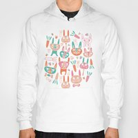bunnies Hoodies featuring Bunnies by Olya Yang