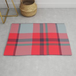 Red Tartan Plaid Rug
