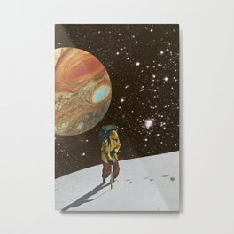 Hiking on the Moon Metal Print