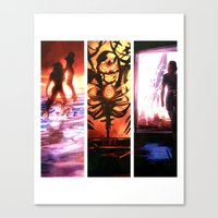 mass effect Canvas Prints featuring Mass Effect by Vaahlkult