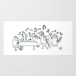 Bird Boogie Art Print