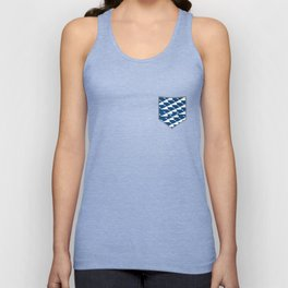 Whale in Blue Ocean with a Love Heart Unisex Tank Top