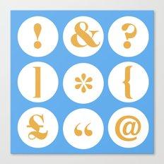 Caslon Type Specimen: Punctuation Canvas Print