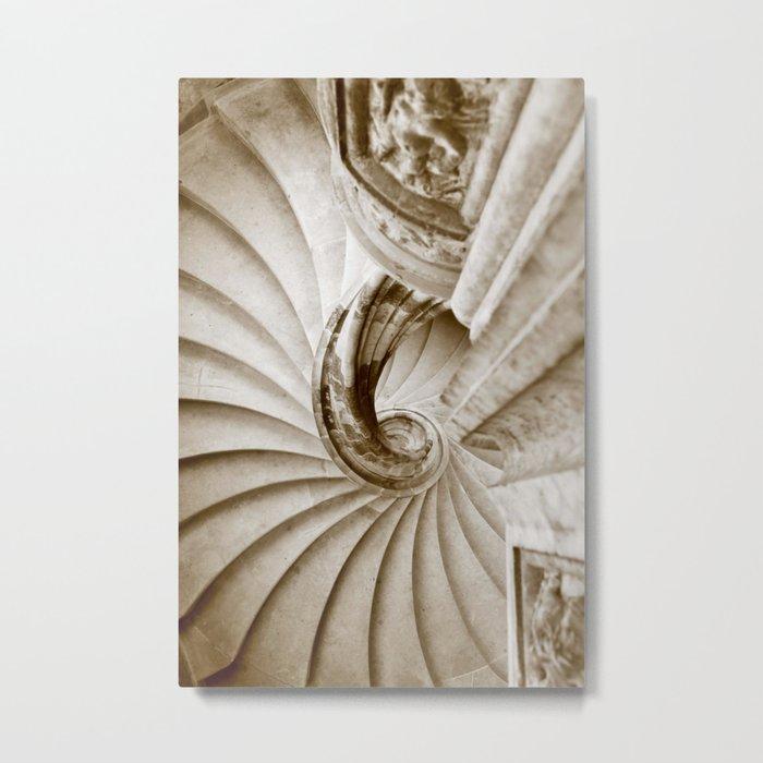 Sand stone spiral staircase 16 Metal Print