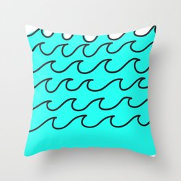 G Waves Throw Pillow