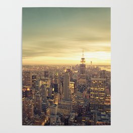 New York Skyline Cityscape Poster