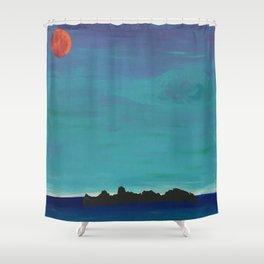 Under a Caribbean Moon Shower Curtain