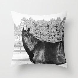 Black & White Bubba Throw Pillow