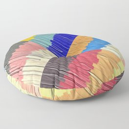 Cool Colors Collage Floor Pillow
