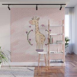 Lovely Girafe  Wall Mural