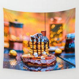 Chocolate Smores Pancakes at a Cabin Wall Tapestry