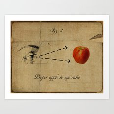 Apple to Eye Art Print