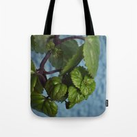 swedish Tote Bags featuring Swedish ivy by Camaracraft