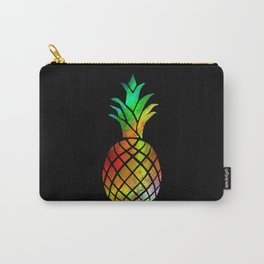 cute tropical cool colourful pineapple fruit aloha summer vacation beach graphic design Carry-All Pouch