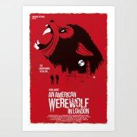 An American Werewolf (Red Collection) Art Print
