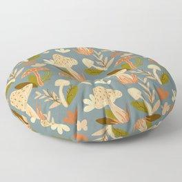 Mushroom Forest in Retro  Floor Pillow