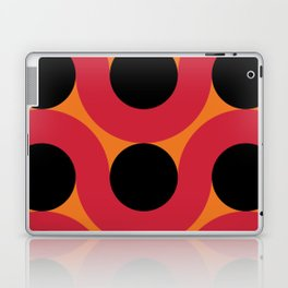 Black Balls on red Elastic Worms in an Orange Background Laptop & iPad Skin