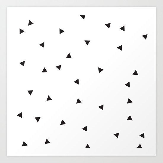 Mini triangles Art Print