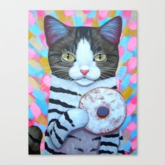 POWDERED SUGAR DONUT Canvas Print