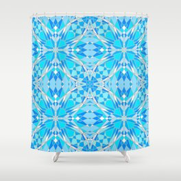 Icy Stained Glass Shower Curtain