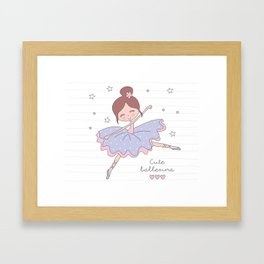 Cute Ballerina Framed Art Print