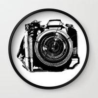 camera Wall Clocks featuring Camera by Luisa Mähringer