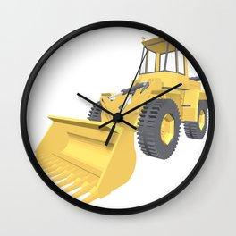 Bulldozer 3D projection vector. Wall Clock