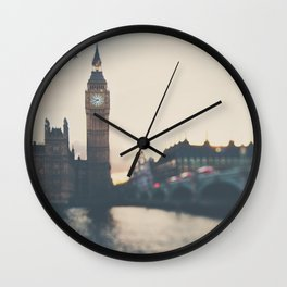 sunset over the city ... Wall Clock