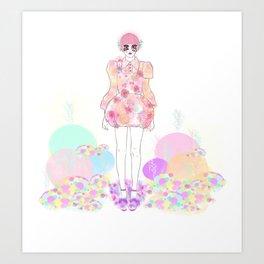 Pastel Power - Fashion Illustration By Chrissy Lau Art Print