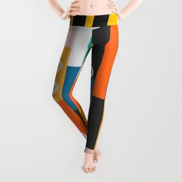 Modern abstract construction Leggings