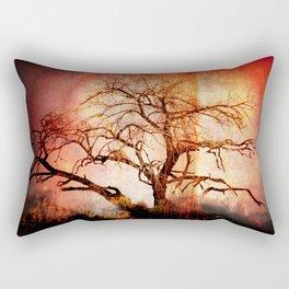"""""""BENEATH THE BURNING TREE"""" Rectangular Pillow"""