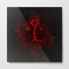 IS Symbol on Red Metal Print