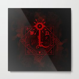 IS Symbol on Red Metal Print
