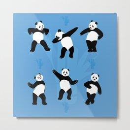 Panda Disco Metal Print
