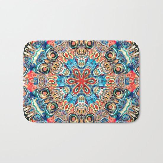 Abstract Tribal Mandala Bath Mat
