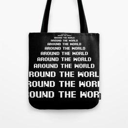around the world black art print Tote Bag